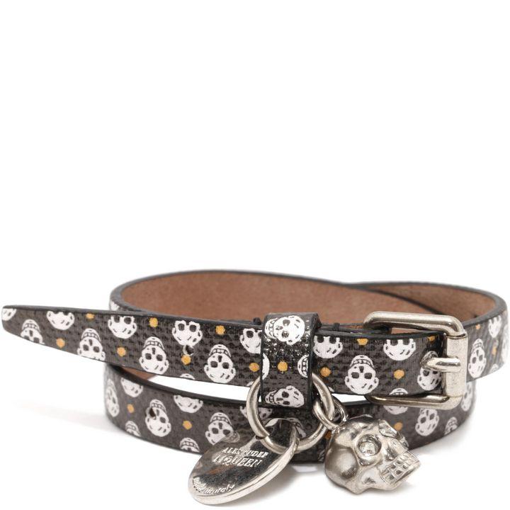 Alexander McQueen, Mini Skull Double Wrap Skull Bracelet