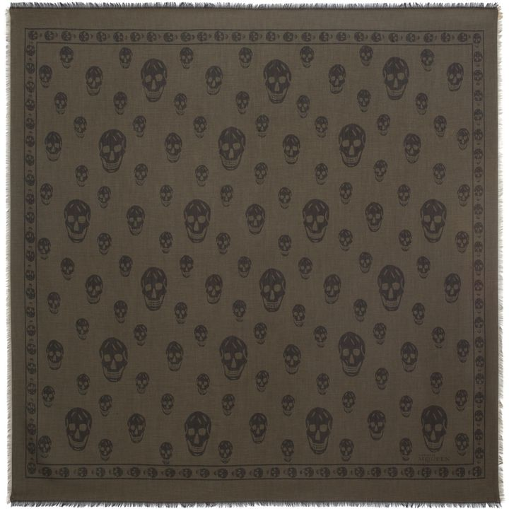 Alexander McQueen, Two-tone Skull Scarf