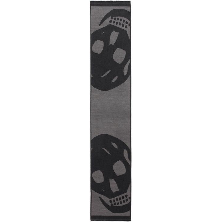 Alexander McQueen, Foulard Skull Oversize in Lana