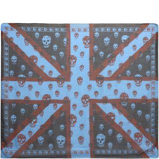 ALEXANDER MCQUEEN, Men's Scarf, New Union Jack Skull Scarf