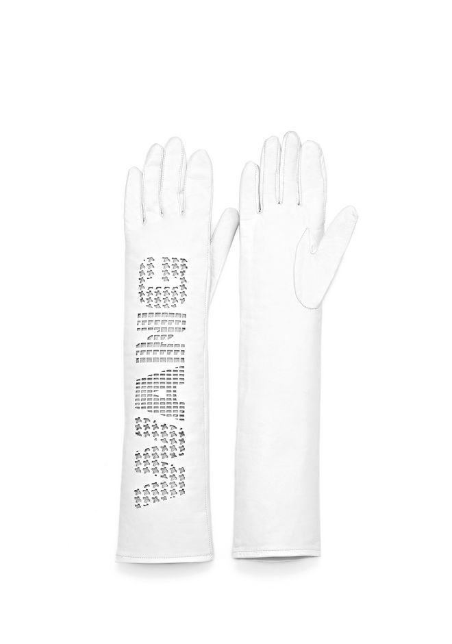 ELBOW LENGTH GLOVE WITH LOGO
