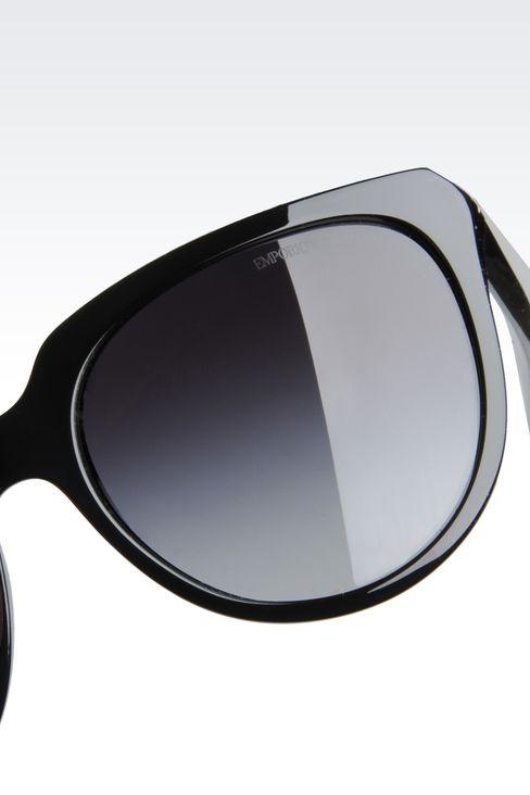 CAT-EYE ACETATE SUNGLASSES: sunglasses Women by Armani - 3