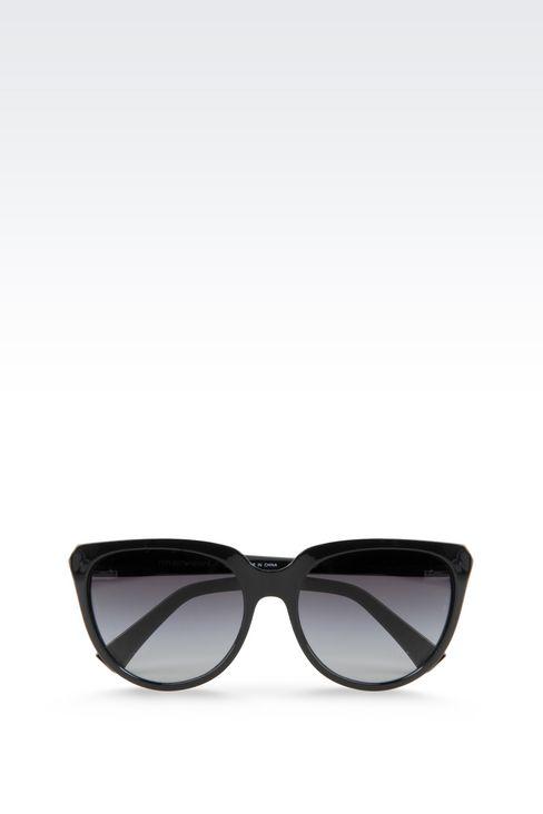 CAT-EYE ACETATE SUNGLASSES: sunglasses Women by Armani - 1
