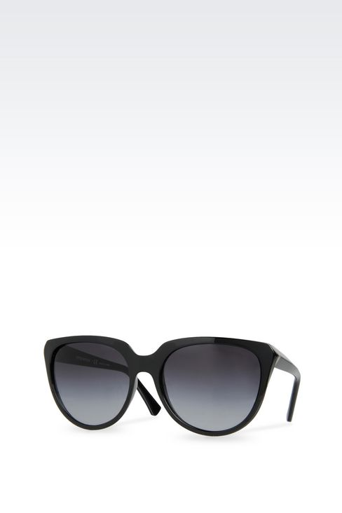 CAT-EYE ACETATE SUNGLASSES: sun glasses Women by Armani - 2