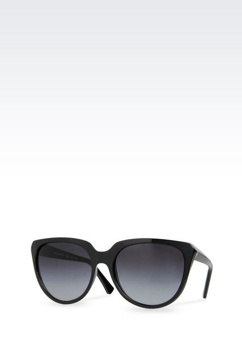 CAT-EYE ACETATE SUNGLASSES: sunglasses Women by Armani - 2