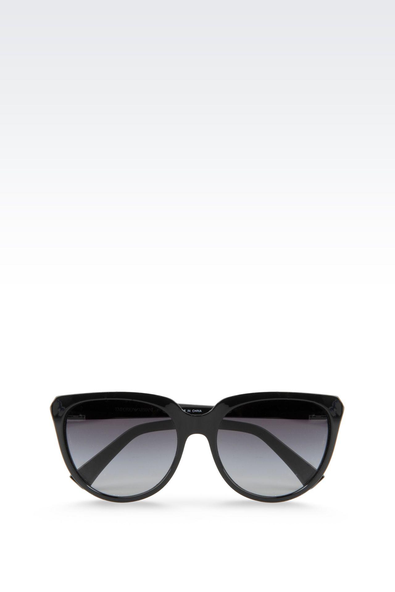 CAT-EYE ACETATE SUNGLASSES: sunglasses Women by Armani - 0