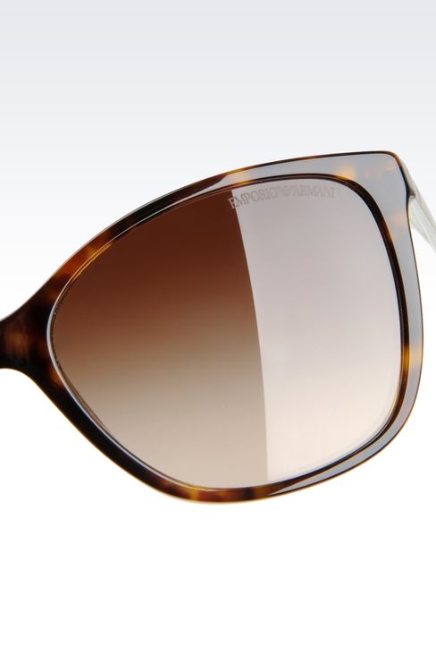 CAT-EYE ACETATE AND ALUMINIUM SUNGLASSES: sun glasses Women by Armani - 3