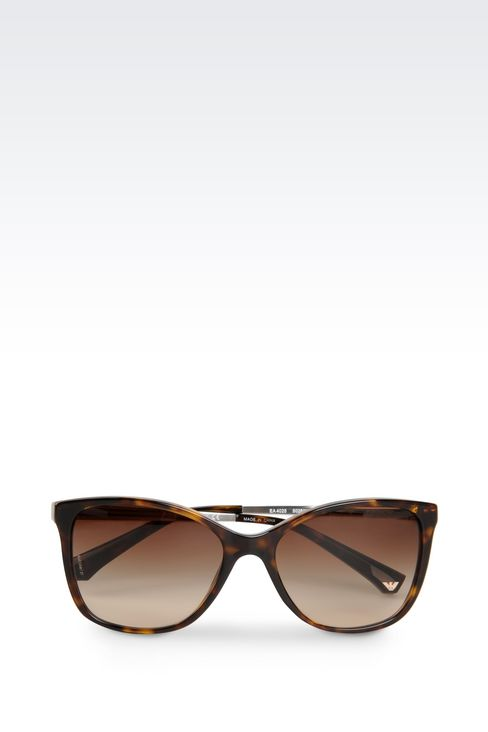 CAT-EYE ACETATE AND ALUMINIUM SUNGLASSES: sun glasses Women by Armani - 1