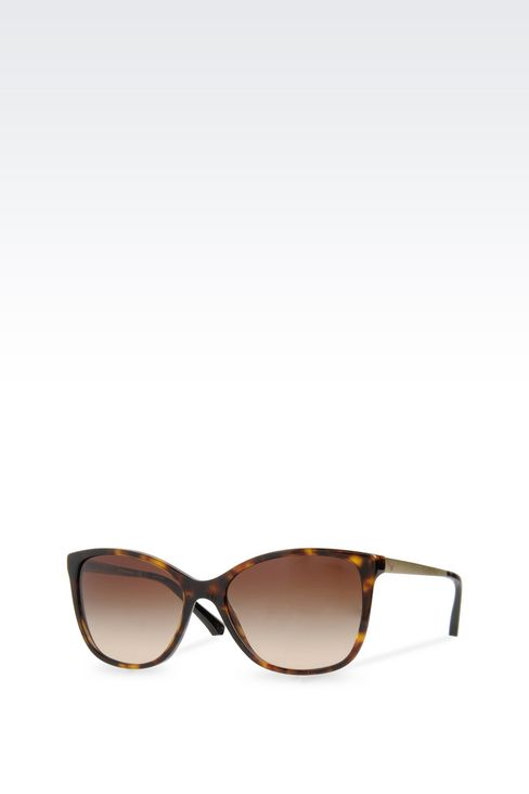 CAT-EYE ACETATE AND ALUMINIUM SUNGLASSES: sun glasses Women by Armani - 2