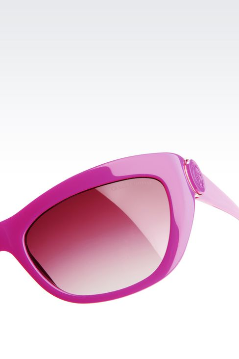 CAT-EYE ACETATE SUNGLASSES: sun glasses Women by Armani - 3