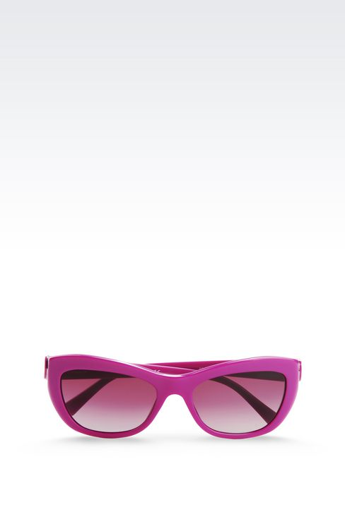 CAT-EYE ACETATE SUNGLASSES: sun glasses Women by Armani - 1