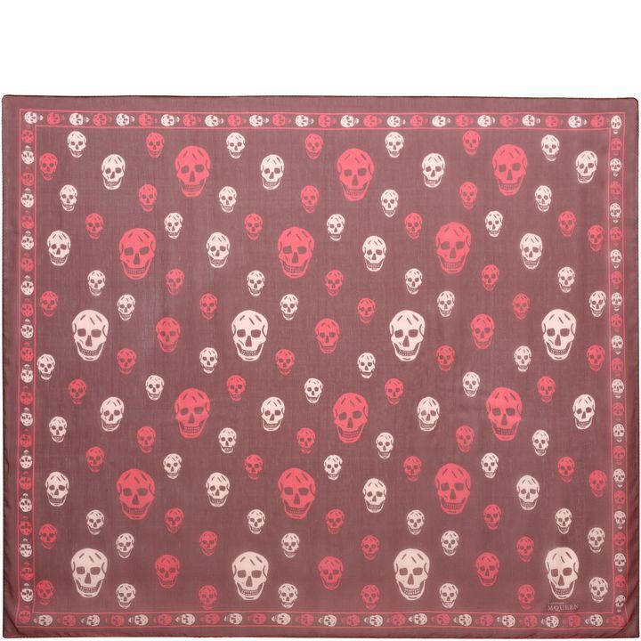 Alexander McQueen, Bicolour Silk Blend Skull Scarf