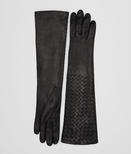 Nero Intrecciato Nappa Gloves