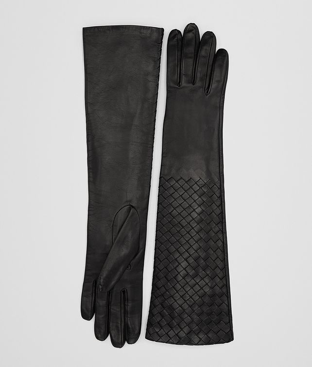 BOTTEGA VENETA NERO INTRECCIATO NAPPA  GLOVES Scarf or other D fp