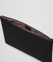 LARGE DOCUMENT CASE IN NERO INTRECCIATO NAPPA