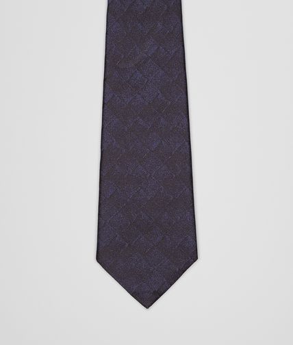 Midnight Blue Black Silk Tie