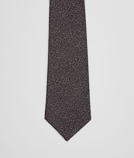 Black Medium Grey Silk Tie