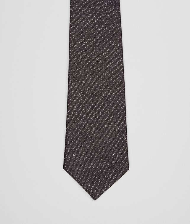 TIE IN BLACK MEDIUM GREY SILK