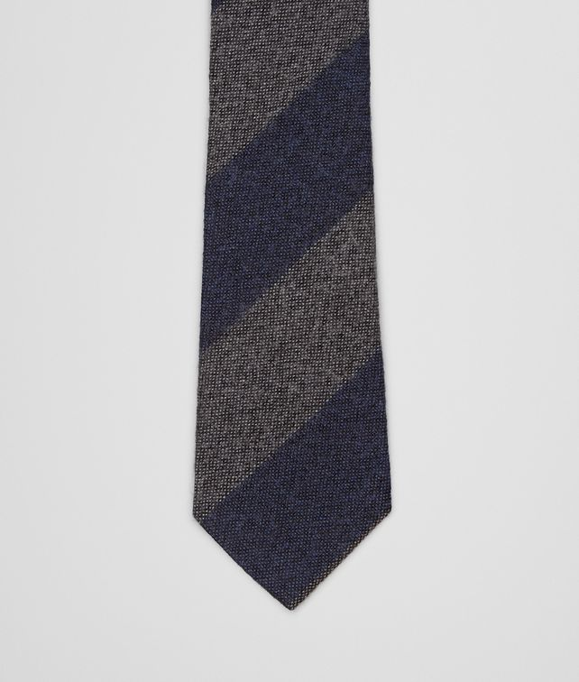 BOTTEGA VENETA Navy Dark Grey Wool Silk Tie Tie or bow tie U fp