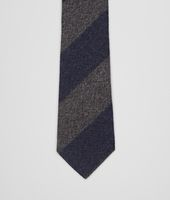 Navy Dark Grey Wool Silk Tie