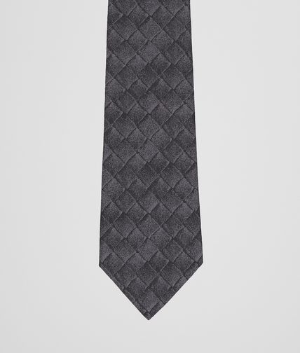 Anthracite Black Silk Tie