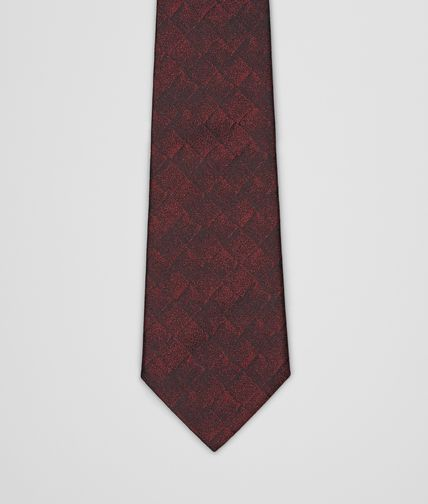 TIE IN BORDEAUX BLACK SILK