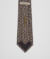 TIE IN OLIVE BLACK SILK