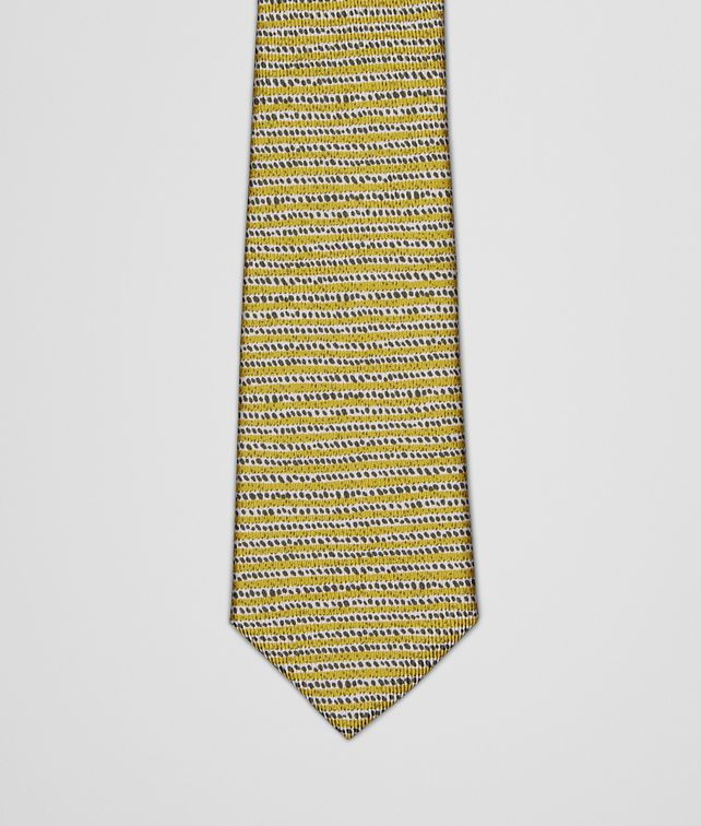BOTTEGA VENETA TIE IN CITRON DARK GREEN SILK Tie or bow tie U fp