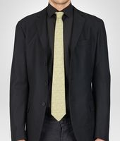 TIE IN CITRON DARK GREEN SILK