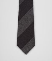 Aubergine Medium Grey Wool Silk Tie