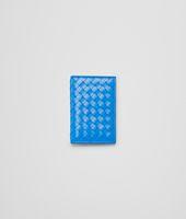 PORTA CARTE SIGNAL BLUE IN VN INTRECCIATO