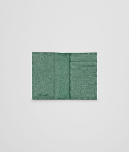 BOTTEGA VENETA - Emerald Green Intrecciato Washed Lambskin Card Case