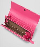 Rosa Shock Intrecciato Nappa Continental Wallet