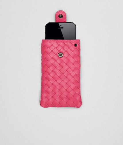 BOTTEGA VENETA - Rosa Shock Intrecciato Nappa iPhone Case