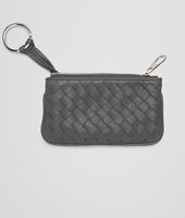 KEY CASE IN NEW LIGHT GREY INTRECCIATO NAPPA