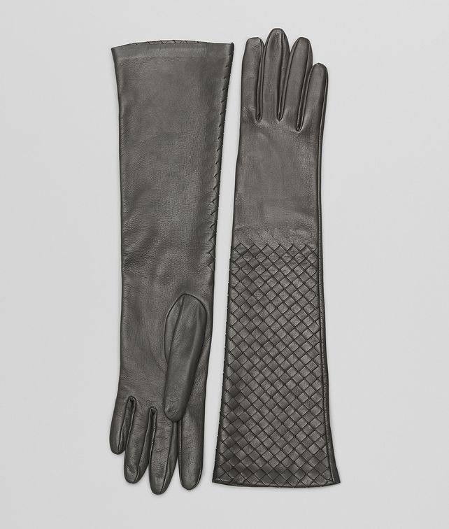 Medium Grey Intrecciato Nappa Gloves