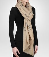 SAND BLUE CASHMERE  SCARF