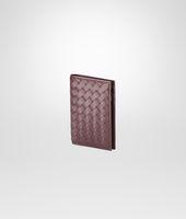 Aubergine Intrecciato Vn Card Case