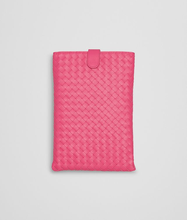 BOTTEGA VENETA Rosa Shock Intrecciato Nappa Mini iPad Case Other Leather Accessory E fp