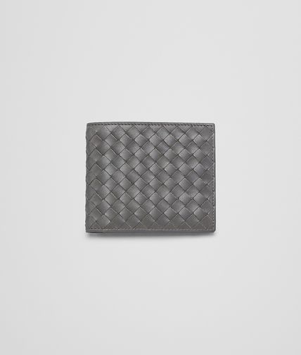 BOTTEGA VENETA - Medium Grey Intrecciato Vachette Wallet