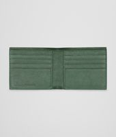 Emerald Green Aubergine Edoardo Intrecciato Club Fumé Wallet