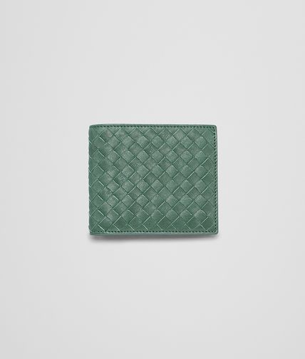 BOTTEGA VENETA - Emerald Green Intrecciato Washed Lambskin Wallet