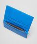 BOTTEGA VENETA Nero Signal Blue Intrecciato Washed Vintage Continental Wallet Continental Wallet U ap