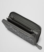 ZIP AROUND WALLET IN NEW LIGHT GREY INTRECCIATO NAPPA AND AYERS