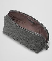 BEAUTY CASE MEDIO IN INTRECCIATO NAPPA NEW LIGHT GREY