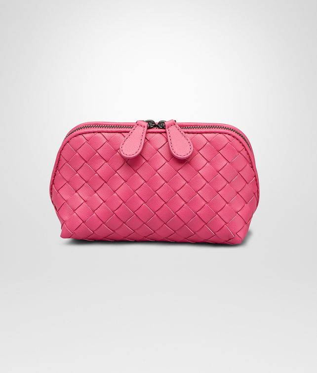 BEAUTY CASE ROSA SHOCK IN NAPPA INTRECCIATA