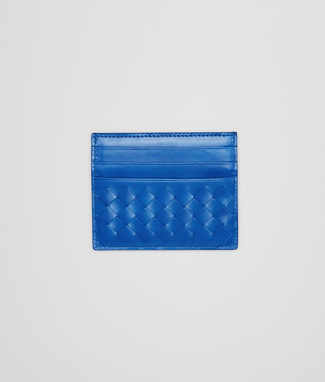 BOTTEGA VENETA SIGNAL BLUE INTRECCIATO VN CARD CASE Card Case or Coin Purse U fp