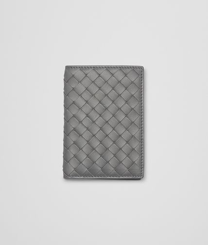 BOTTEGA VENETA - New Light Grey Intrecciato Nappa Card Case