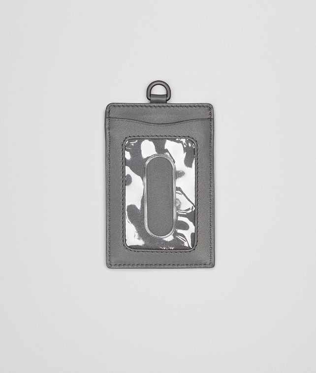 PORTE-CARTES NEW LIGHT GREY EN NAPPA INTRECCIATO