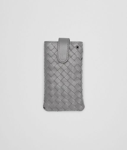 BOTTEGA VENETA - New Light Grey Intrecciato Nappa iPhone Case
